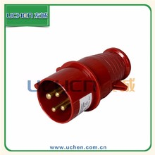 YG FL-14 red thermoplastic waterproof 16amp cee industrial plug