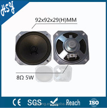 Square shape 92mm 8ohm 5w branded speaker