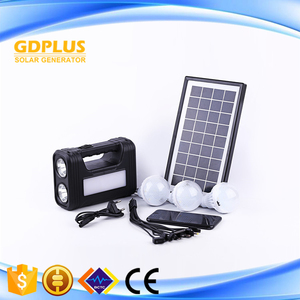Multifunction Solar Panel Solar Lighting System Kits with Power Bank for camping