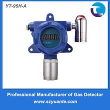 Infrared remote control F2 fluorine gas detector with shut-off valve