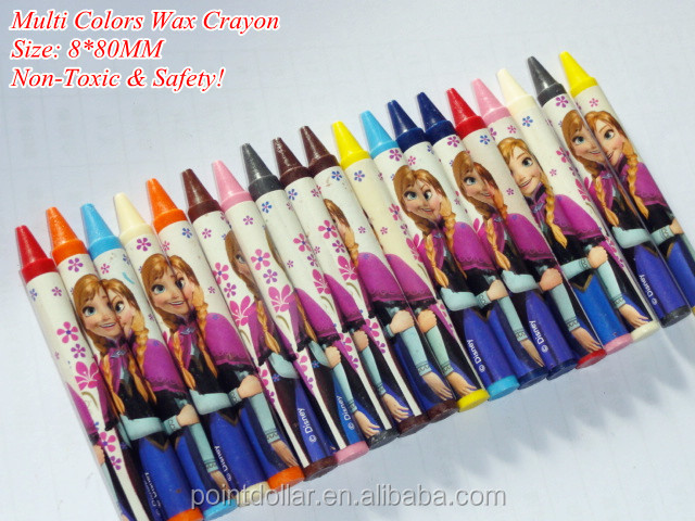 bulk packaging crayons, rich color wax crayons, Non-Toxic & Safety color crayons for kids