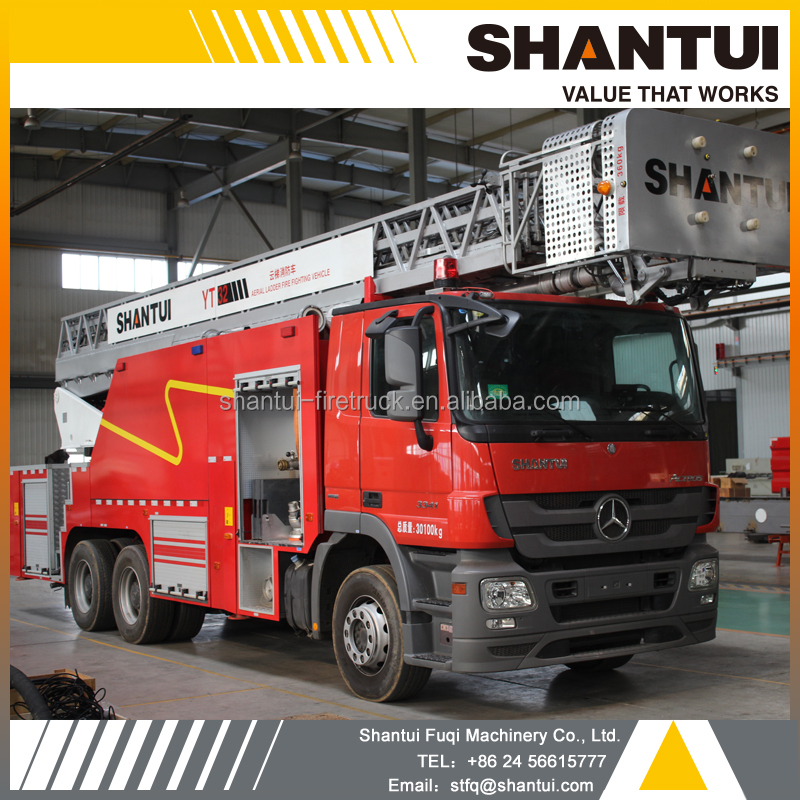 SHANTUI YT32 aerial ladder fire fighting truck