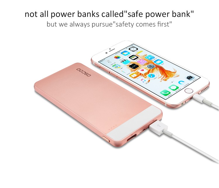 OSCOO Latest products cellphone power bank in market usa powerbank 5000mah with custom logo