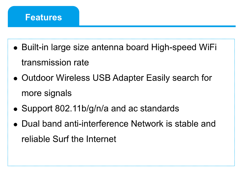 2018 NEW 600Mbps High Power Wifi Antenna WiFi USB Adapter Tuoshi Realtek RTL8811AU Wireless USB Adapter Support 802.11b/g/n/a