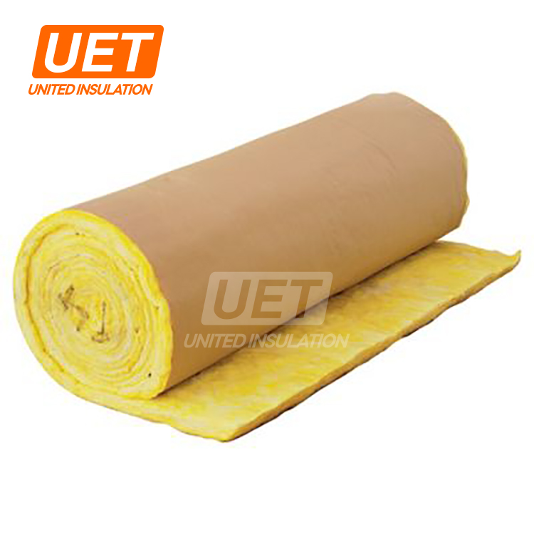 Kraft Paper Fiber Glass Wool Blanket Price for frame structure insulation