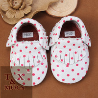 Hot selling new style zebra suede baby moccasins infant shoes ladies shoes hills