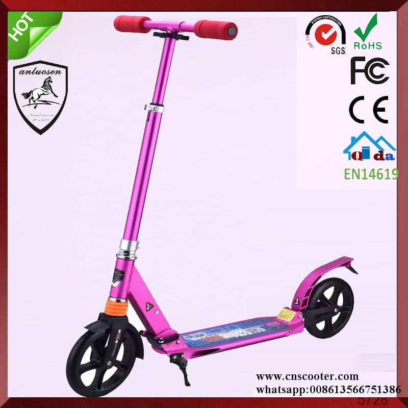 Hot Sale 200mm big wheels adult kick trikke scooter two sheel scooter