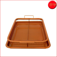 Copper crisper oven air fryer pan