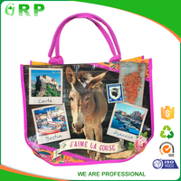 High quality printed animal horse pp woven shopping bag with logo