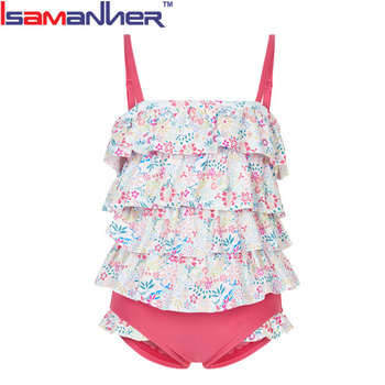Colorful children one piece swimwear kids girl bikini swimsuit