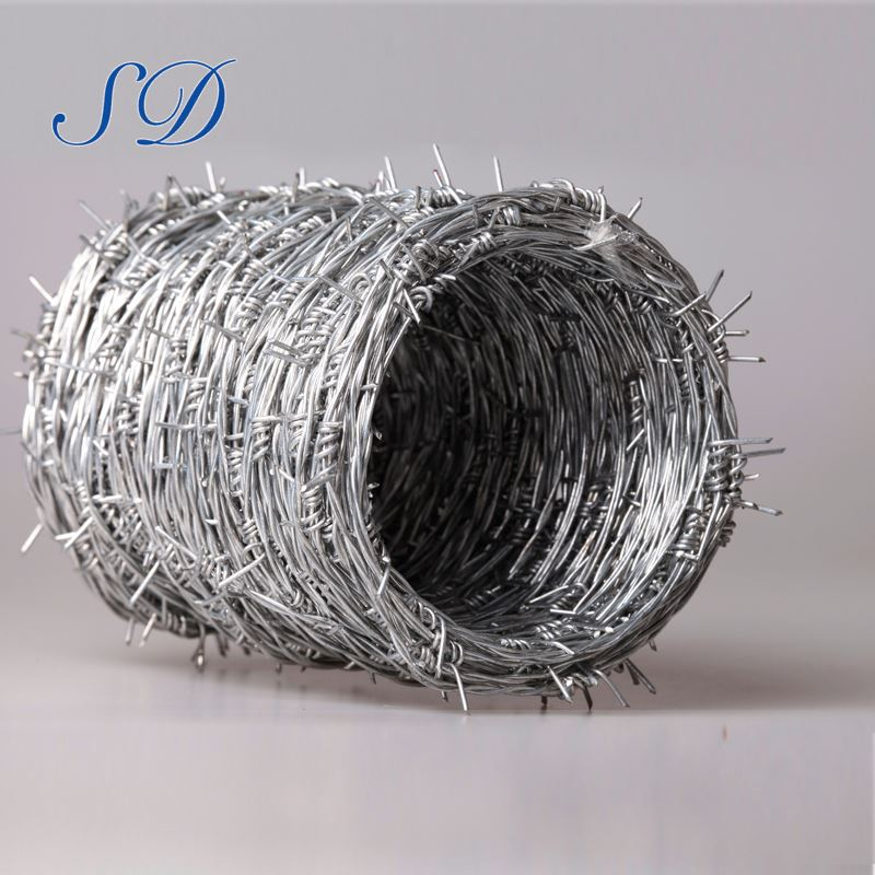 Hot-Dipped Galvanized Single And Double Barbed Wire Motto Mesh