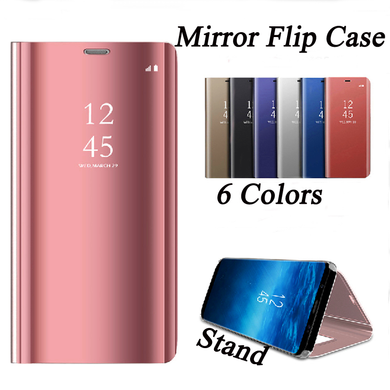 Luxury Mirror Case For Samsung Galaxy J2 PRO Flip Mirror Clear View back cover
