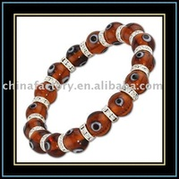 fashon evil eye jewelry Amber glass murano bead bracelet