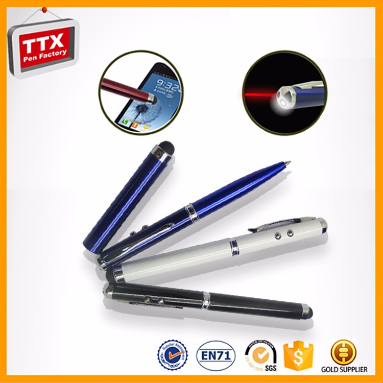 Multifunctional Metal Ball Pen With Torch Light