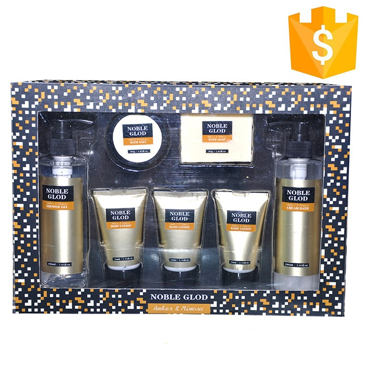 new products classical golf golden lily bath spa gift set for men