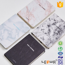 Leather Paper Marble Grain Cover Agenda Notebook