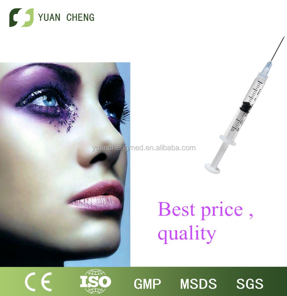 2016 hot sale High purity Anti-Wrinkle low Molecular Weight Hyaluronic Acid,beauty injections