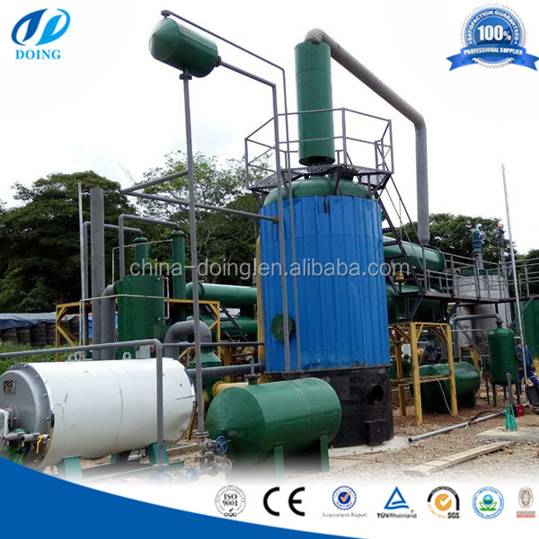 Fully Automatic Waste Tyre Oil Distillation Refinery Machine/Used Engine Oil Recycling Equipment/Car Oil Distiller