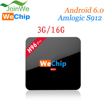 Wechip 2016 TV BOX S912 H96 Pro S912 3gb Ram Tv Box Android 6.0 Octa Core 4k 3g 16g Smart Box