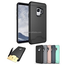 cover for samsung galaxy s9, hard case for samsung galaxy s9 with credit cards slots holder