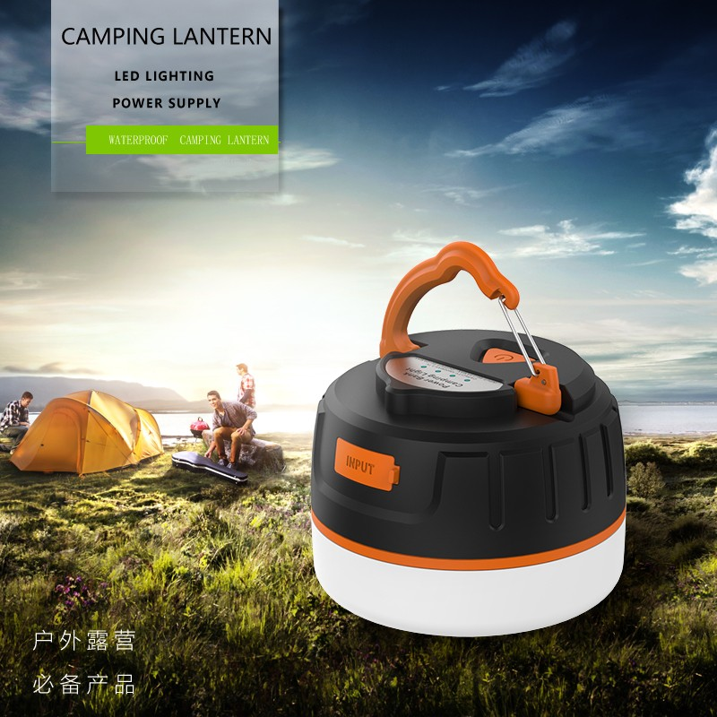 Portable LED Camping Lantern with 5200mah Power Bank & Magnet for Hiking & Illumination & Phone Charging