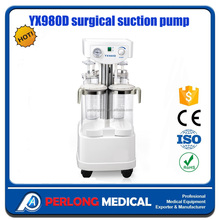 perlong medical surgical suction pump YX980D Hot Sale Foot Operated Suction Machine