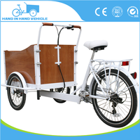 pedal cargo tricycle with cabin bakfiets for factory direct sale