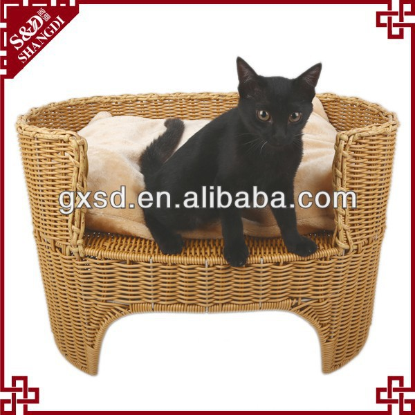 2014 China manufacturer hot sale rattan customized size pet bed