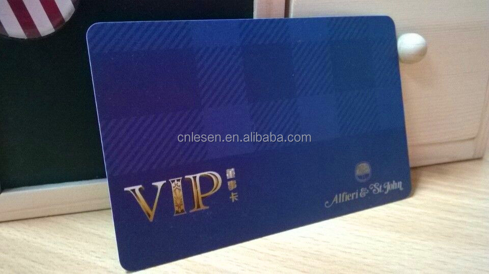 Plastic CR80 Size Business Cards for VIP Member
