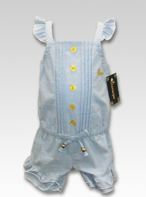 Baby Chambray Romper baby hand embroidery designs baby clothes baby dress