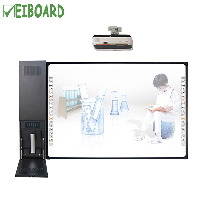 Wall mounted cheap touch screen all in one keyboard desktop PC with smart board