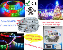 addressable 5050rgb 12v flex pixel led strip with ic controled