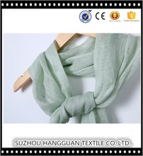 Chic Women's 100% Linen Scarf Plain Color Fashion Custom