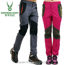 2017Fashion Warm ski trousers and combat trousers with fleece