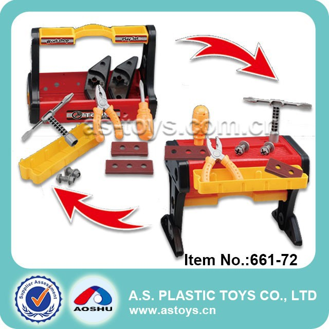 Play At Home10PCS Children tools box plastic tool trolley toy