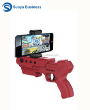 Hot sale bluetooth controller connect mobile phone plastic augmented reality shooting toy ar game gun