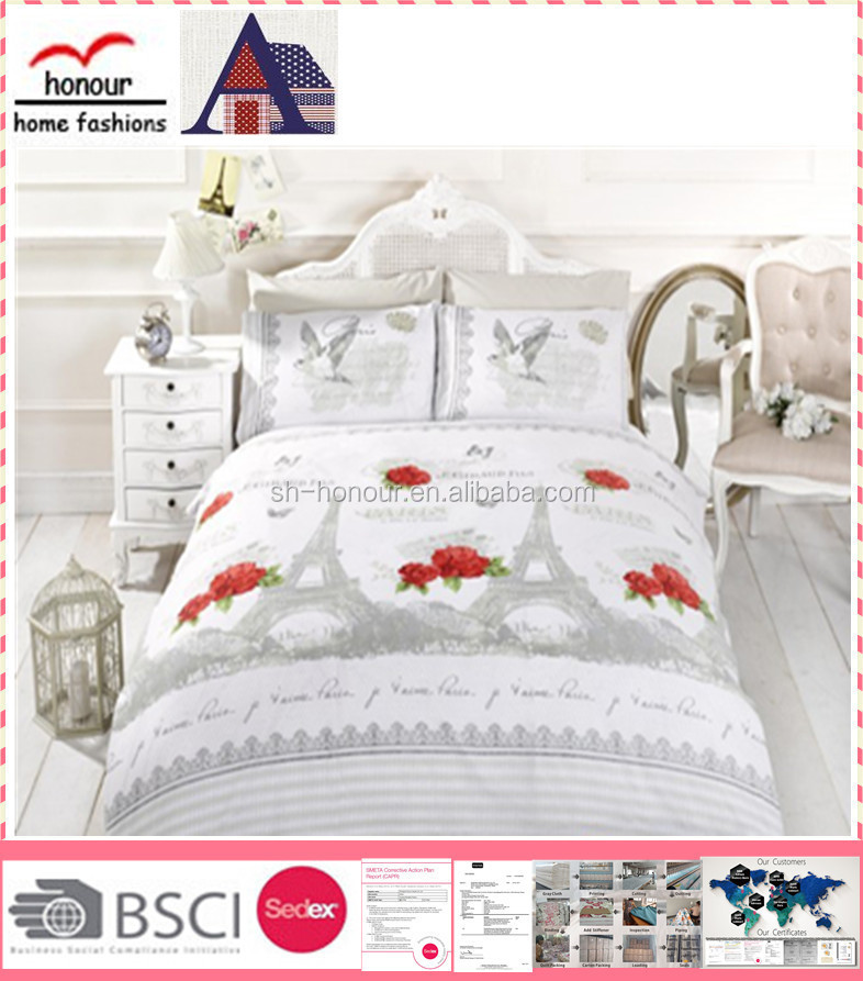 greec market 100%cotton 3pcs bedding set/quilt set made in china