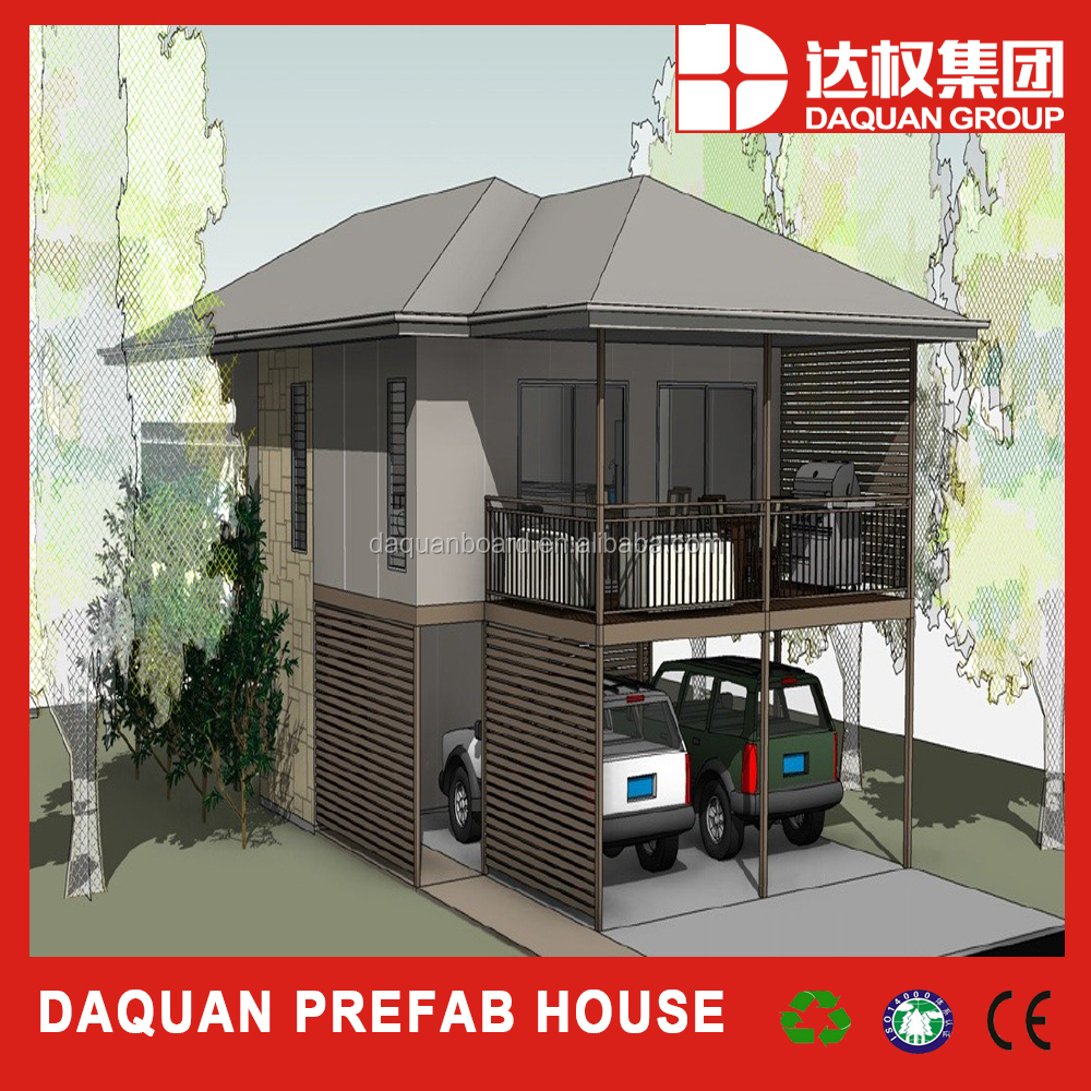 two floors new panel building system with heat/fire/water resistance