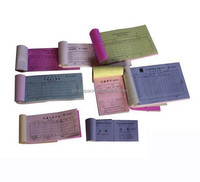 Custom cash receipt book, business invoice sample book printing