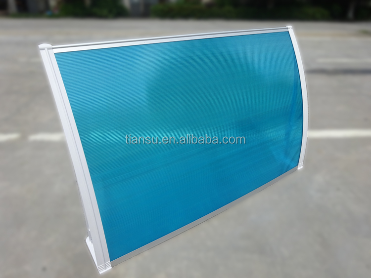 Plastic Polycarbonate window door canopy awnings/polycarbonate awning