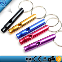 Free sample Aluminum alloy survival outdoor rescue camping whistles,factory supply Pocket Survival Rescue Emergency Whistles