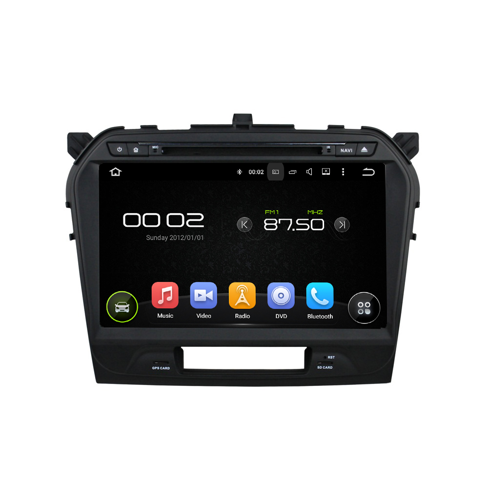 quad core Android 5.1.1 HD touch screen car dvd player with gps navigation for suzuki Vitara 2015