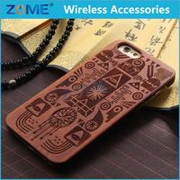 Customized Hybrid PC + Wooden Cell Phone Case For iPhone 6S 4.7-inch