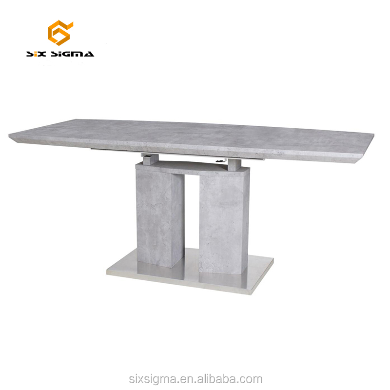 Modern hot sale cement folding dining table furniture