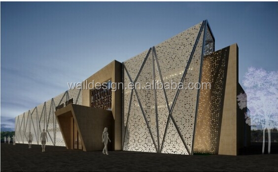 Architectural Screen Walls : Malaysia laser cut decorative metal screens for