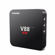 2017 Hot Selling Set Top Box Hd 4k 2k Android Tv Box V88 RK3229 1G 8G Android 5.1 Tv Box Quad Core