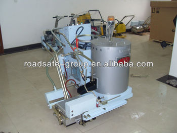 Hand push and automatic computer control thermoplastic road marking machine