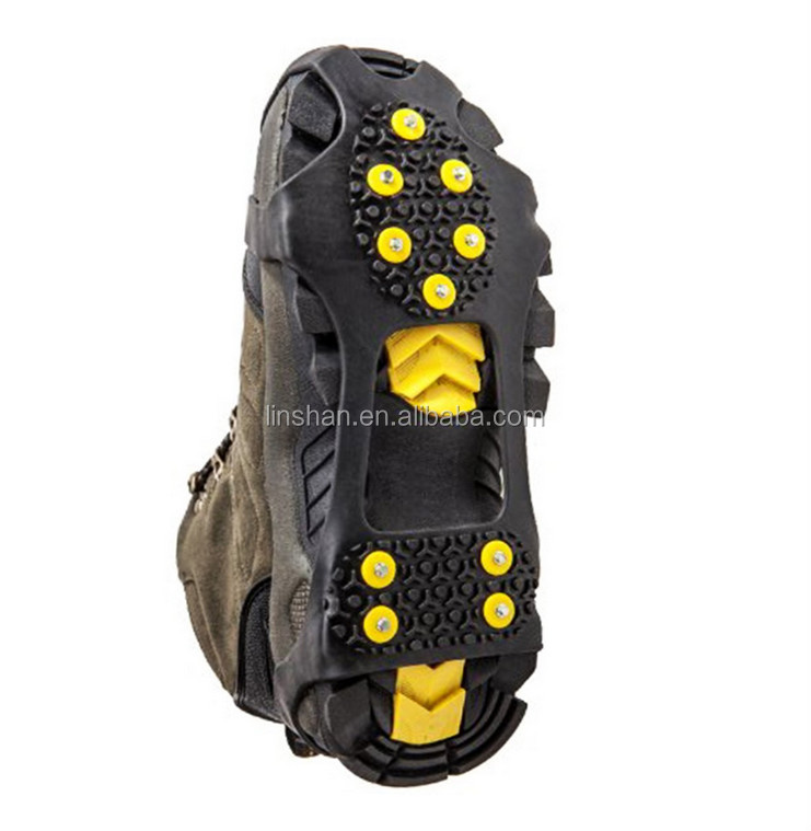 Ice Crampons Cleats Snow Grabbers Silicone Rubber Anti-slip Shoe Covers Overshoes - Size