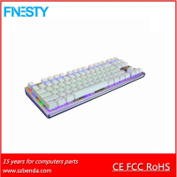 2016 new waterproof mechanical 7colors backlight gaming keyboard