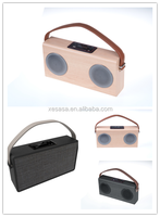 wooden speaker box Wireless Portable Stereo Speaker with Two Acoustic Drivers, Strong Bass, High Definition Audio, Built-in Mic